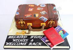 Luggage/Travel cake