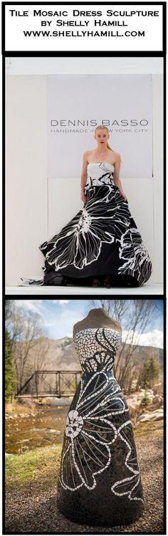 International mosaic artist specializing in mosaic dress sculptures and mosaic portraits. Dennis Basso, Strapless Dress Formal, Formal Dresses, Sculptures For Sale, Mosaic Tiles, Event Planning, Events, Portrait, Handmade