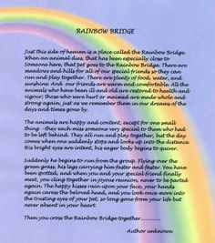 Influential image with regard to poem rainbow bridge printable