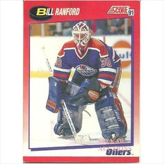 Score 1991 NHL Hockey Trading Card #30 Bill Ranford #30 Goalie Edmonton Oilers Listing in the Non-Graded,1990-1999,Singles,NHL,Hockey,Sports Cards & Stickers,Sport Memorabilia & Cards Category on eBid Canada $0.50