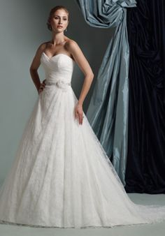 James Clifford Collection - Chantilly Lace Ball gown