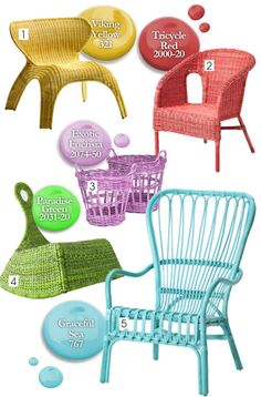 Dare to paint your rattan furniture. Here are some good and affordable examples.