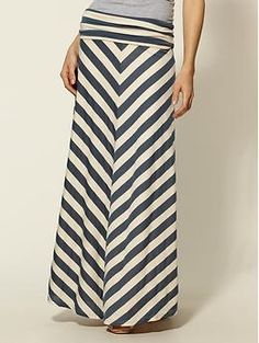 maxi chevron skirt