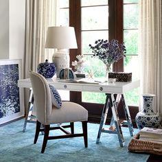 Mason Wood Top Desk, White | Williams-Sonoma