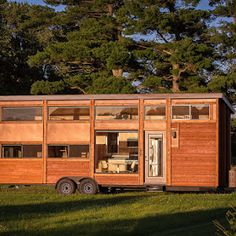A beautiful 200 sq ft tiny house on wheels, designed and built by Maximus Extreme Living Solutions of West Have, Utah.