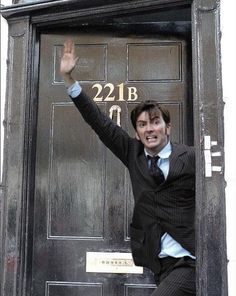 David Tennant in places he shouldn't be, just as Sherlock. https://m.facebook.com/#!/AllAboutWho?m_sess=public&__user=1204705734