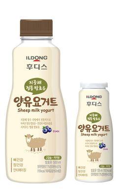 일동후디스, 지중해 정통 양유 발효유, '후디스 양유요거트' 출시 Rice Milk, Packaging Design, Yogurt, Personal Care, Drinks, Bottle, Image, Drinking, Self Care
