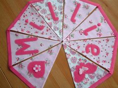 Personalised bunting name banner. Baby girl. by patchworkpawprint  @BabyList Baby Registry