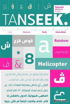 Tanseek Modern Arabic Font Family $700 | 4 x TTF | Turkish Support