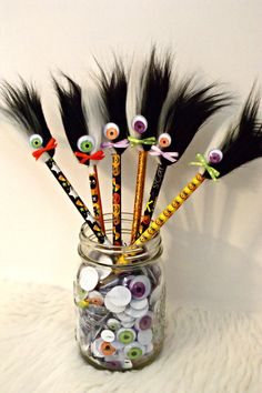 10 Halloween Party Favors Pencil Toppers Fun by FunFurFunPencils