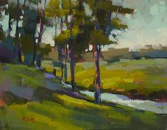 Art Original Pastel Painting SUMMER STREAM by KarenMargulisFineArt, $125.00