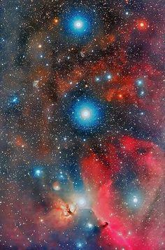 O Cinturão de Orion em HaRGB -  by Martin Campbell