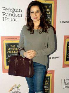 Neelam Kothari at Sonali Bendre's parenting book success bash. #Bollywood #Fashion #Style #Beauty