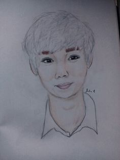 Exo Luhan drawing :))))) so handsome. Luhan, Exo, My Drawings, Handsome