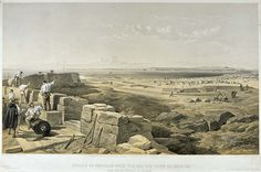 'Straits of Yemkale with the Bay and Town of Kertch', by William Simpson, 1854 (lithograph). William Simpson (1823-99) was a Scottish painter who became noted for his depictions of the Crimean War (1853-6)