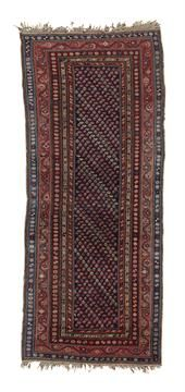 KARABAGH RUNNER SOUTH CAUCASUS, LATE 19TH/EARLY 20TH CENTURY the indigo field wi