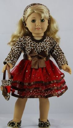 Animal Print 4 pc Party Dress Outfit includes Animal Print Shoes and fits 18 inch American Girl dolls. Doll Clothes Shop http://www.amazon.com/dp/B00GJRNBN6/ref=cm_sw_r_pi_dp_Gdequb0NSS6EP
