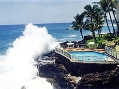 Poipu vacation condo rental - literally the Closest Condos to the ocean on Kauai! Luxury oceanfront condo 'On the Water' in Poipu Beach. Awesome!