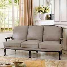 Baxton Studio Antoinette Fabric Sofa - 52348-SF-BEIGE