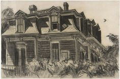 Edward Hopper drawing. Oh the Hopper light and shadow. So love it. And the architecture.