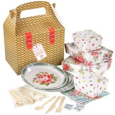 paper plates MY way! Love them!  Cath Kidston - Flatpack Picnic Set