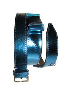 CEINTURE BURBERRY PRORSUM / Bleu, bleu marine, bleu turquoise / 80 FR / Cuir
