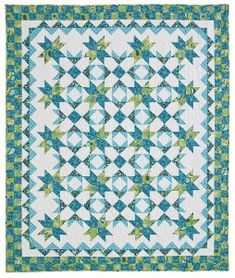 "Hidden Treasures quilt-- like the colorwork/contrast, bringing out the ""white flowers"""