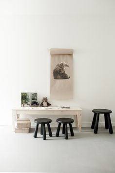 Ikea (Ok it's not a living rm but.too good not to share) forest kidsroom - how cool is this? bear on the wall? for those w kids - imagine how relaxed this could feel in your home. Ikea Kids Room, Kids Bedroom, Childrens Room, Bois Diy, Kids Corner, Kid Spaces, Kids Furniture, Luxury Furniture, Furniture Cleaning