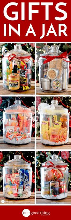 Simple, inexpensive, and sure to impress anyone on your gift list! Gift baskets have been done to death, so give a gift in a jar this year! Check out these 10 creative ideas for heartfelt holiday gifts packed up in a jar. Easy Gifts, Creative Gifts, Homemade Gifts, Creative Ideas, Creative Gift Baskets, Homemade Christmas, Diy Christmas Gifts, Holiday Gifts, Christmas Baskets