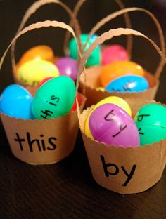 Activity for ages 3 to 6. The final countdown to Easter has officially begun. I'm not sure who is more excited for our family egg hunt – my kids or ME.   To get into the spirit, we're spending the week playing Easter-themed math, reading and science activities. Take a peek at what's in store …