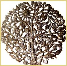 Tree of Life Wall Hanging - Haitian Recycled Steel Oil Drum Metal Art - by HaitianMetal, $159.95