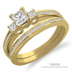 Say yes to this 14K Yellow Gold Diamond Engagement Ring with pristine diamond accents.