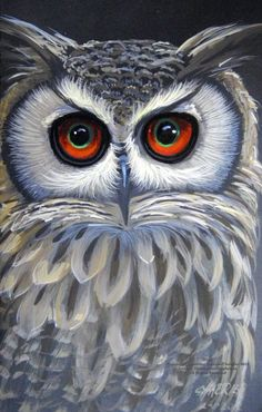 7 X 10 Portrait of an Owl painted in watercolor. Owl Artwork, Owl Pictures, Cute Owl, Animal Paintings, Paintings Of Owls, Bird Art, Painting & Drawing, Art Drawings, Art Projects