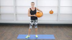 Halloween Pumpkin Workout: Who needs a kettlebell when you have a pumpkin?