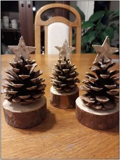 Xmas Crafts, Christmas Projects, Diy And Crafts, Christmas Ideas, Rustic Christmas Crafts, Spring Crafts, Christmas Ornament Crafts, Diy Christmas Stuff, Christmas Inspiration