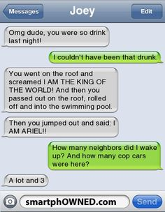 U were so drunk last night! – – Autocorrect Fails and Funny Text Messages – SmartphOWNED Omg dude! U were so drunk last night! – – Autocorrect Fails and Funny Text Messages – SmartphOWNED