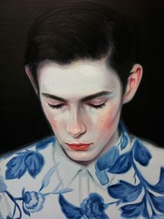 Ambiguous portraits by Kris Knight
