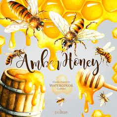Hey, I found this really awesome Etsy listing at https://www.etsy.com/listing/386477544/watercolor-honey-bee-clipart-honeycomb