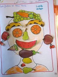 Preschool food crafts, winter crafts for kids, art for kids, elementary art, Winter Crafts For Kids, Art For Kids, Preschool Food Crafts, Gym Nutrition, Nutrition Quotes, Fruit Crafts, Food Themes, Dinners For Kids, Elementary Art