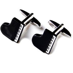Piano Cufflinks Set Gift Box Included, Guaranteed ($15) ❤ liked on Polyvore featuring home, home decor, valentines day home decor and christmas home decor