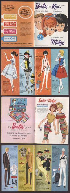 1962 Barbie, Ken & Midge Booklet