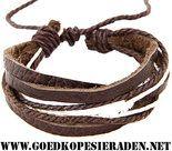 Armband-meerdere-lagen-met-oa-donkerbruin-en-wit-leder