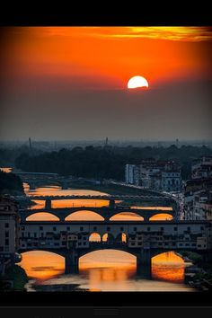 Beautiful Florence, view of The Ponte Vecchio on river Arno.