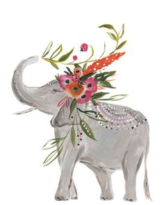 Add a pop of whimsy and color to your decor with a bohemian elephant limited edition print. Personally signed by Bari J. Printed on luxe heavy weight archival paper made to last. For the safest shippi