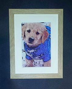 artbyhew: original painting & limited editions: puppy in pullover