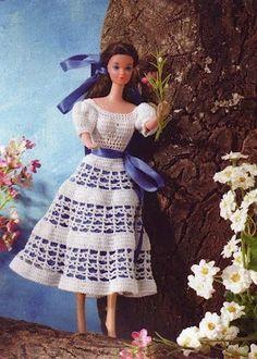 7d4f8fee013 Robes Barbies et leurs grilles gratuites
