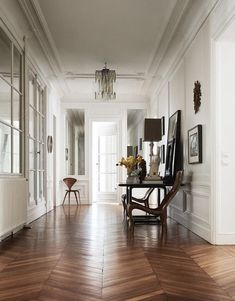 23 of the best celebrity home tours on Vogue Living: Givenchy creative director Clare Waight Keller's Paris home Vogue Living, French Interior, Home Interior Design, Parquet Flooring, Home Fashion, Diy Design, Loft Design, Design Ideas, House Ideas