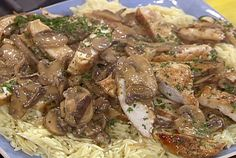 Chicken with Wild Mushroom and Balsamic Cream Sauce Recipe : Rachael Ray : Food Network - FoodNetwork.com
