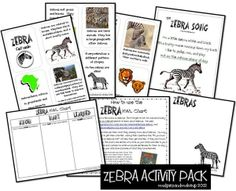 Zebra Printables {An Animal Study–FREE!} from Mudpies and Make-up
