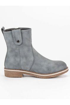 Pohodlné sivé topánky Super Me Timberland, Chelsea Boots, Vans, Platform, Ankle, Shoes, Fashion, Moda, Zapatos